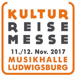 Logo Kulturreisemesse Ludwigsburg / Stuttgart 11./12. November 2017, Musikhalle Ludwigsburg