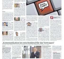 Gastbeitrag in der Ludwigsburger Kreiszeitung und Interview zum Online-Wahlkampf zur Bürgermeisterwahl in der Schillerstadt Marbach am Neckar