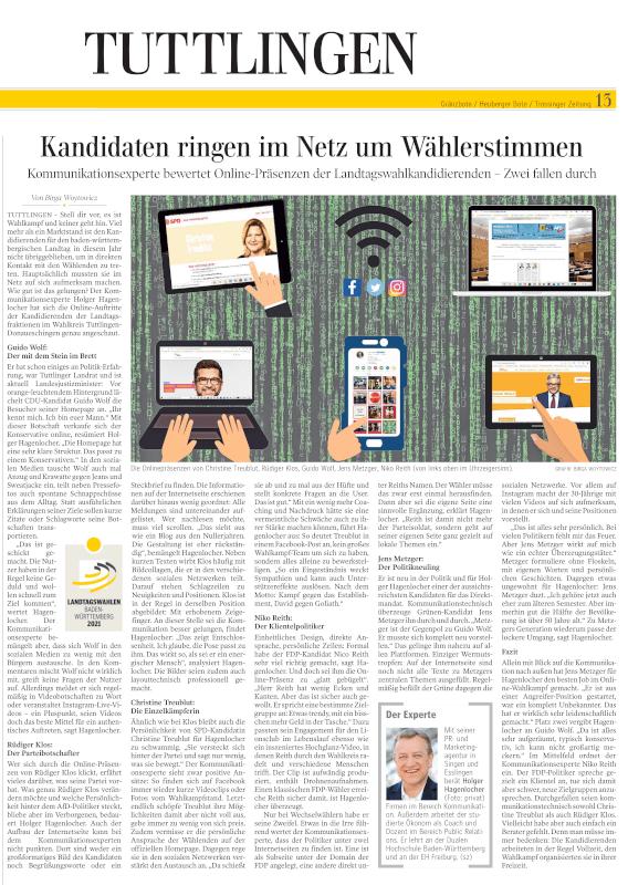 Interview Gränzbote Online-Wahlkampf der Kandidierenden im Wahlkreis