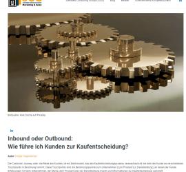 Inbound- oder Outbound - wie werden Kunden zu Käufern?