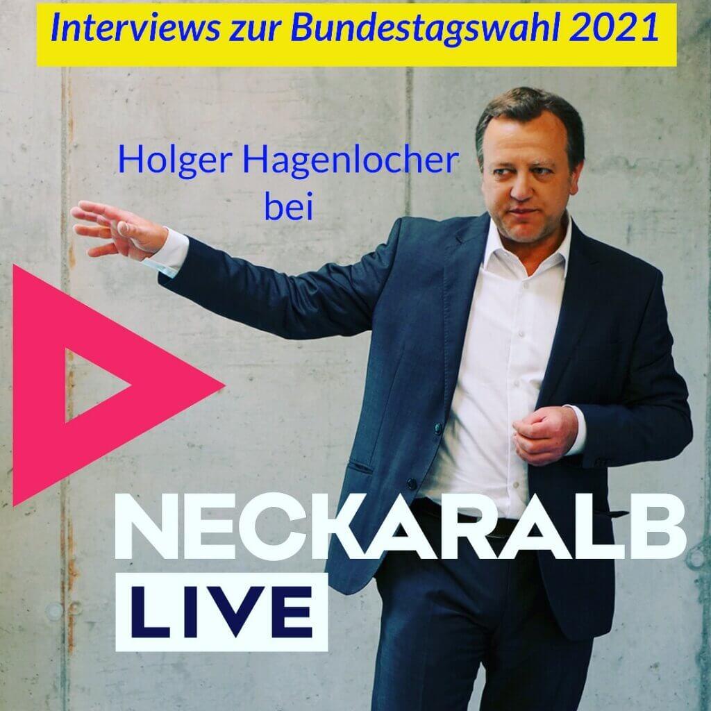 Interviews PR-Berater Holger Hagenlocher bei Radio Neckaralb Live zu den Kampagnen zur Bundestagswahl 2021